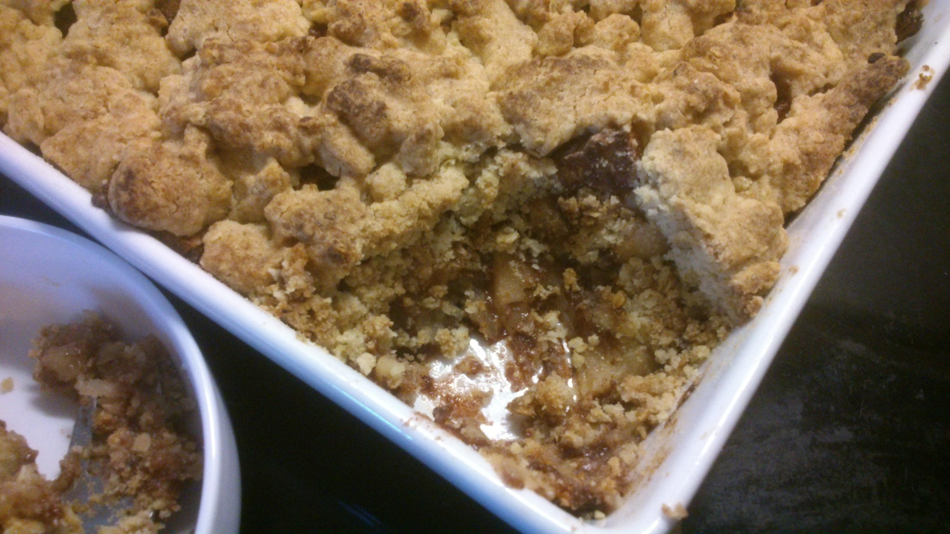 crumble æbletærte