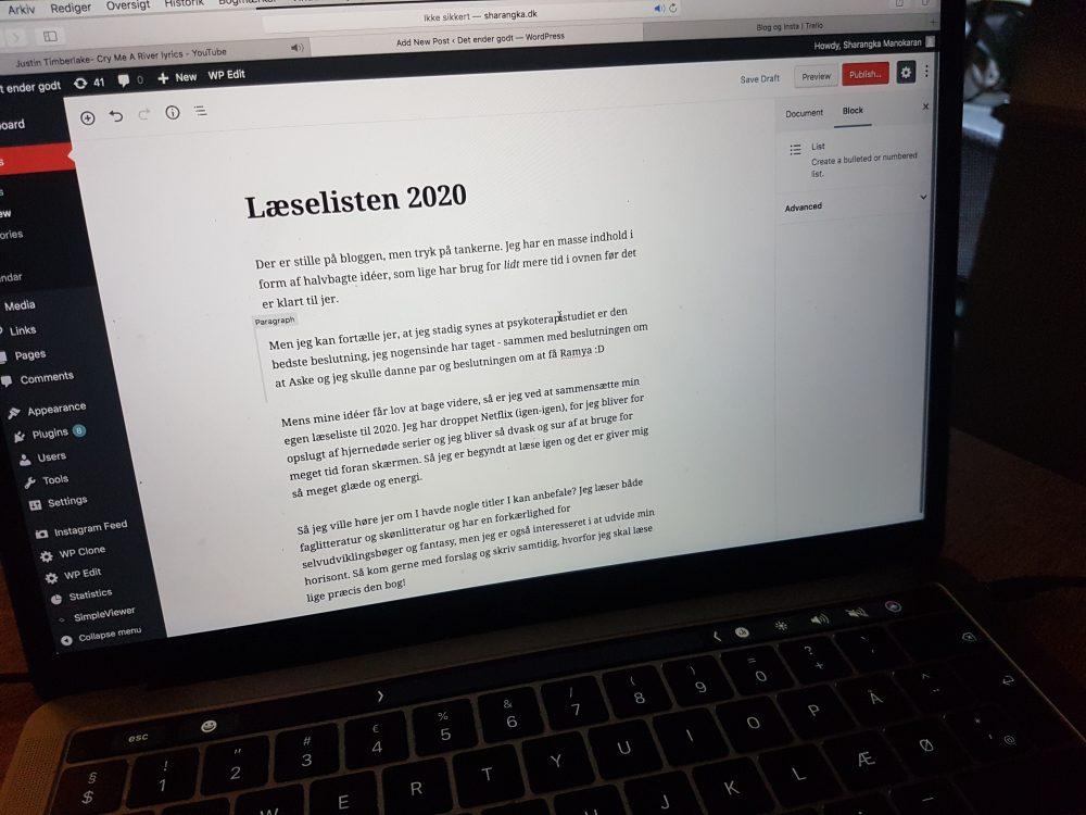 Læselisten 2020